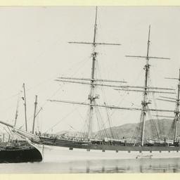 The 'Taranaki' docked at a port in New Zealand