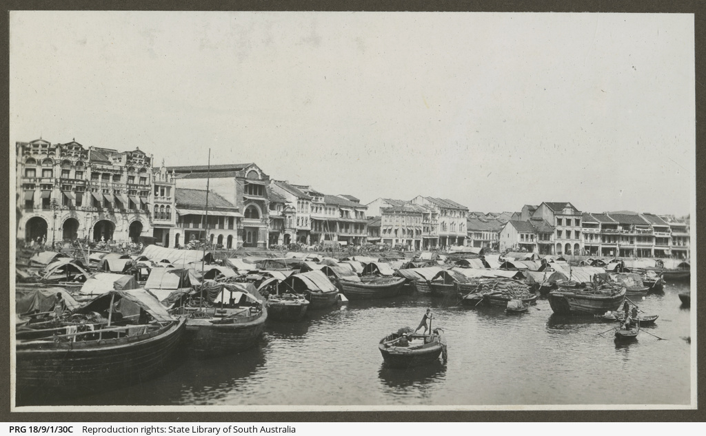 Boats on Singapore River.