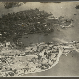 Aerial view of Circular Quay, Sydney.