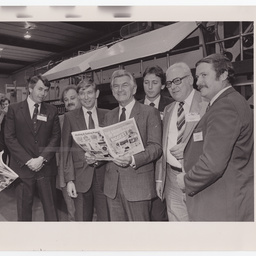 Visit to Messenger Newspapers by Australian Prime Minister Bob Hawke