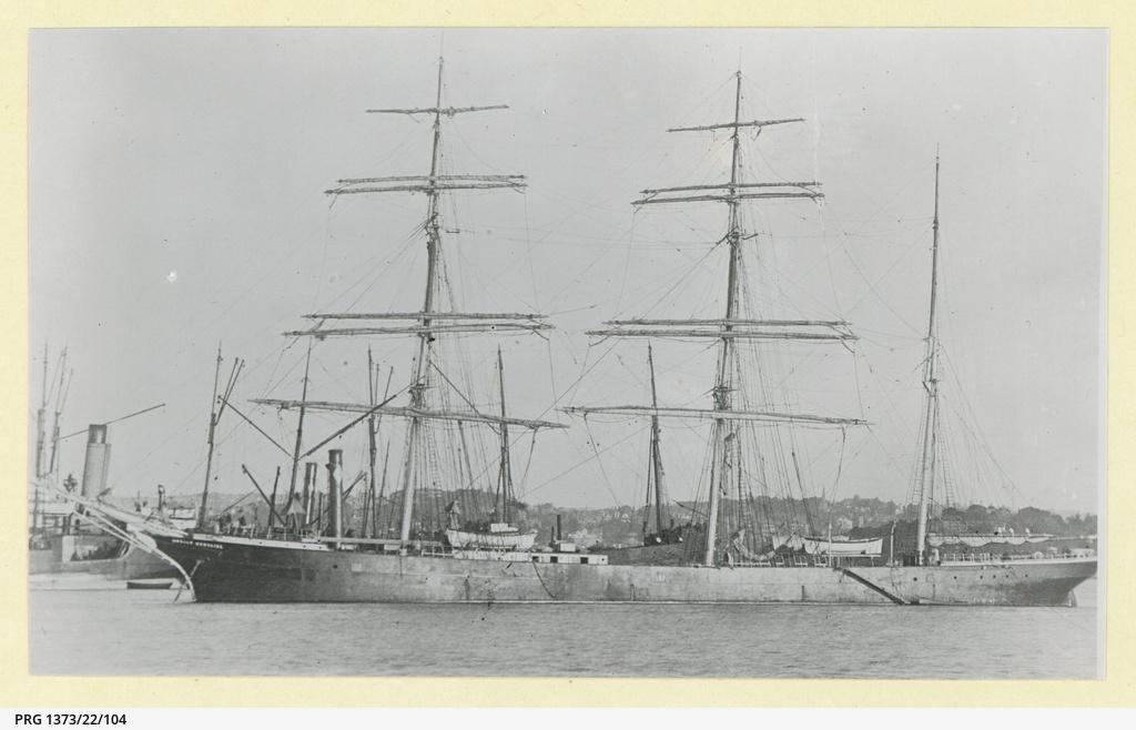 The 'Jeanie Woodside' in an unidentified port