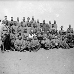 Group portrait of Australian soldiers.