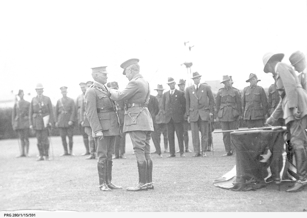 Governor of South Australia attending a medal presentation ceremony