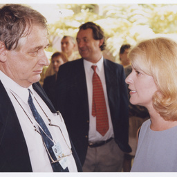 Writer Bob Ellis and politician Natasha Stott Despoja