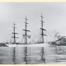 The 'Penthesilea' anchored in an unidentified port