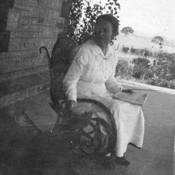 Woman on a verandah