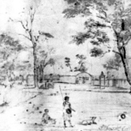 Copy of Leichhardt's 1855 sketch of the Echuca region