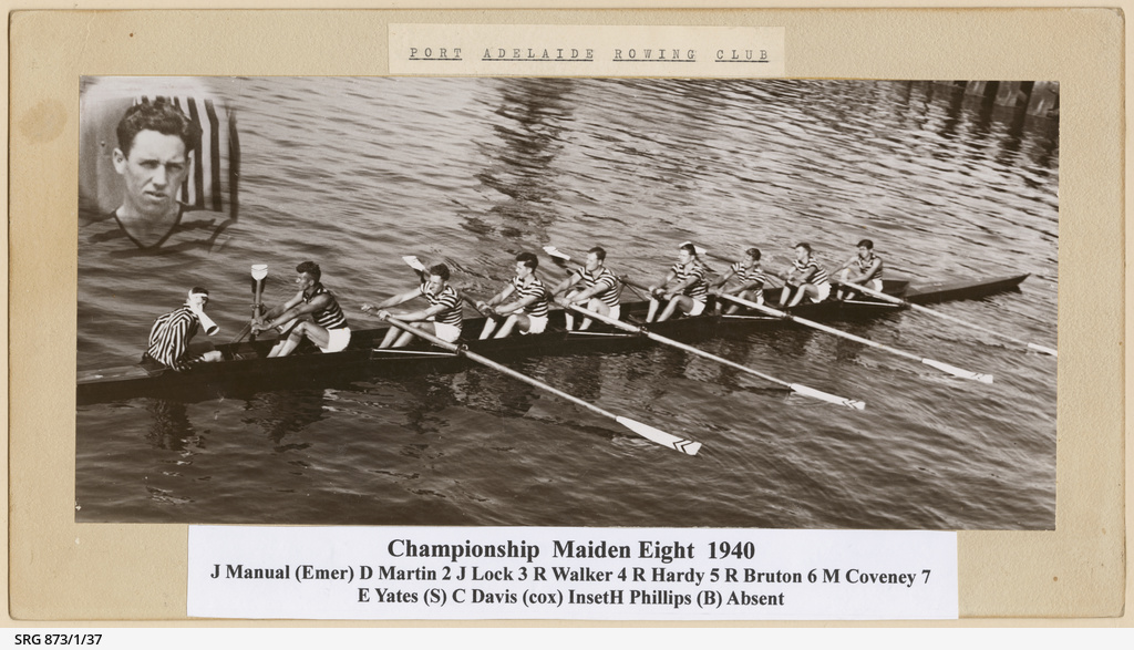 Port Adelaide Rowing Club Championship Maiden Eight 1940
