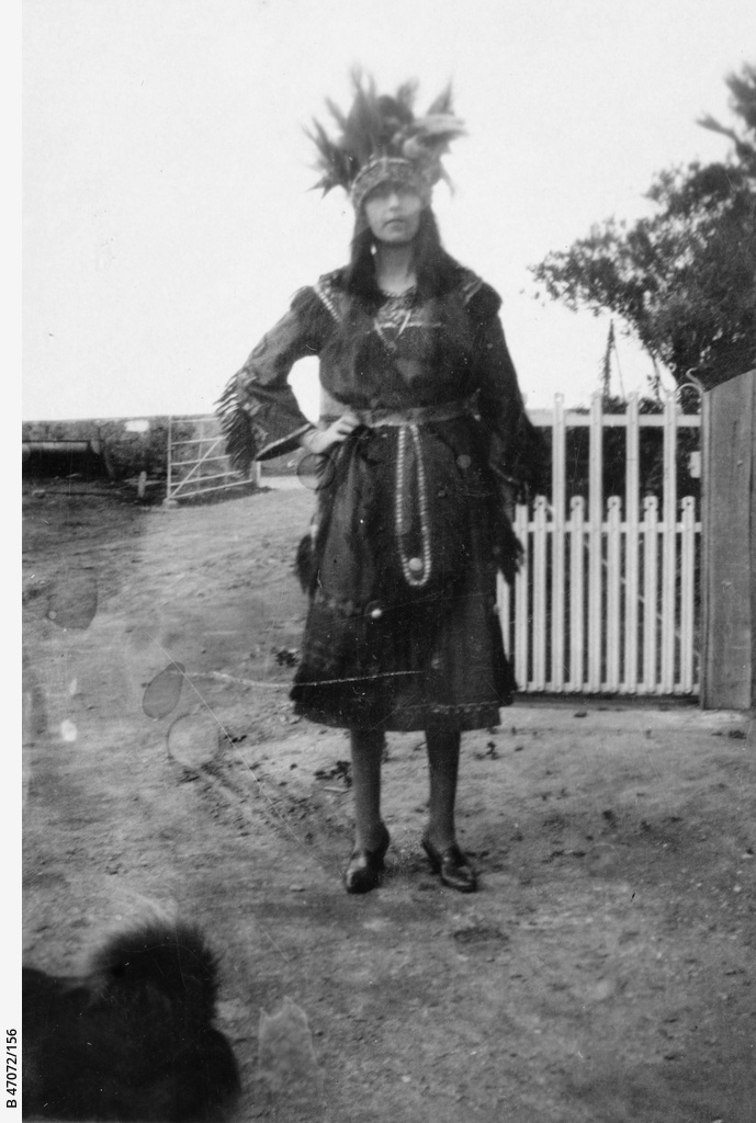 A Woman Dressed In Native American Costume Photograph State Library Of South Australia