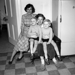 Patricia Mason with her two sons, Kirk and Scott.