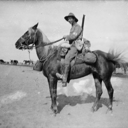 Light Horse soldier on mount.