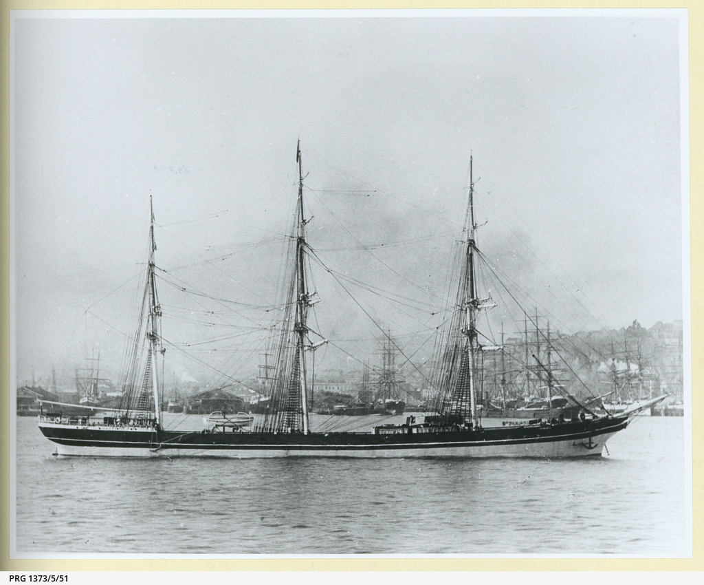 The 'Aigburth' anchored in an unidentified port