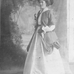 Young women wearing fancy dress
