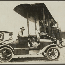 Motor car and Vickers Vimy.
