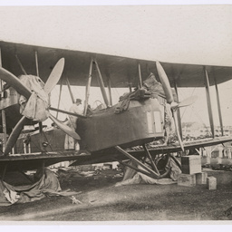Vickers Vimy undergoing an overhaul at Singapore