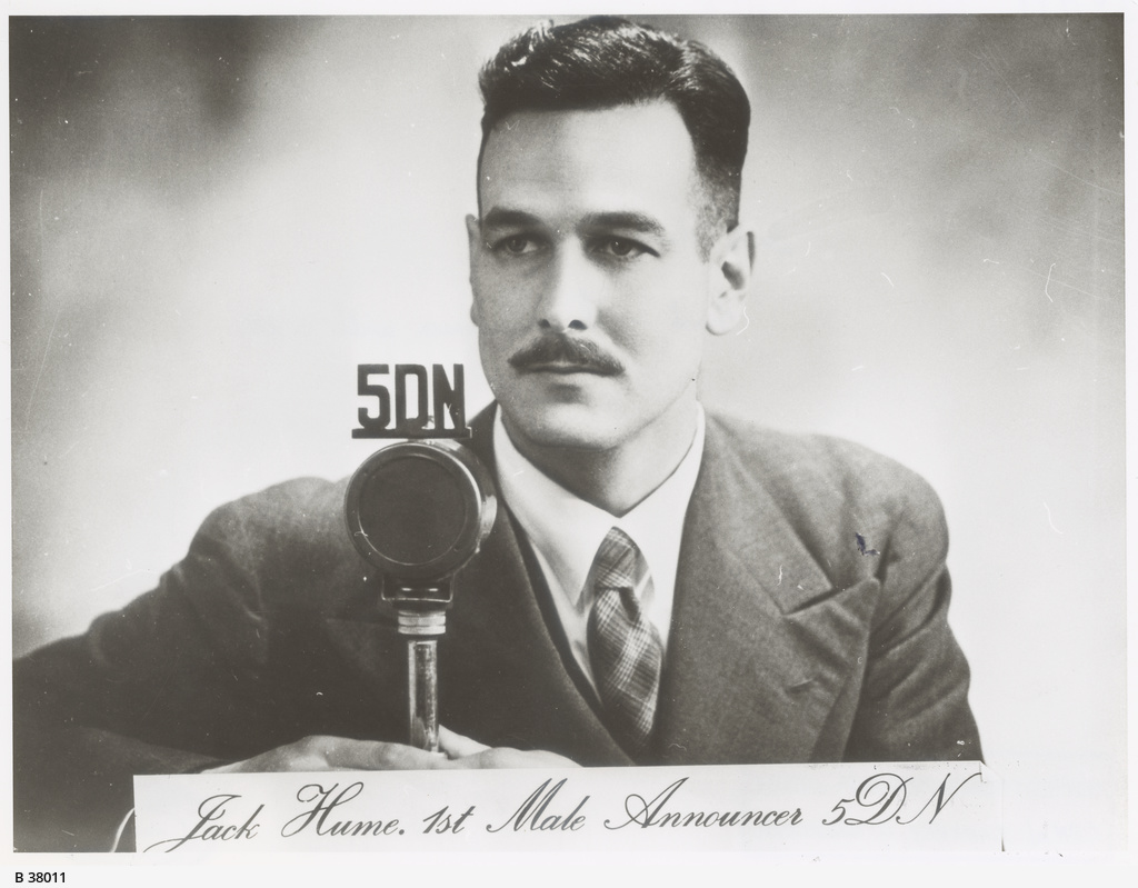 Jack Hume: first male announcer with Radio 5DN