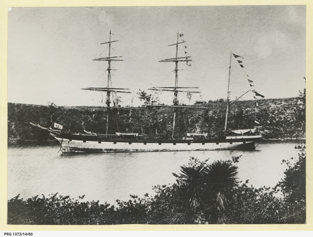 The 'Kineardineshire' anchored in an unidentified harbour