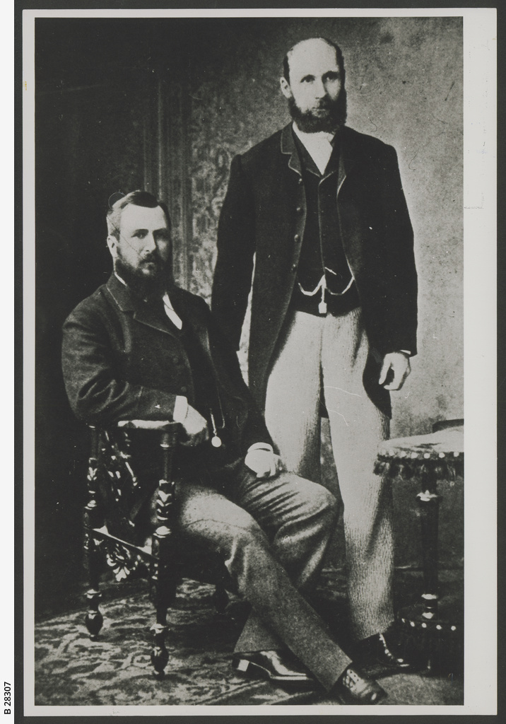 George McCulloch(L) and Charles Rasp