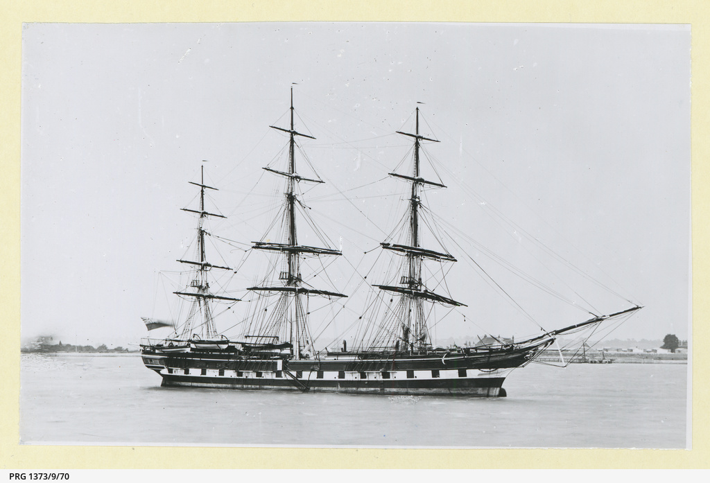 The 'Alumbagh' moored in an unidentified port