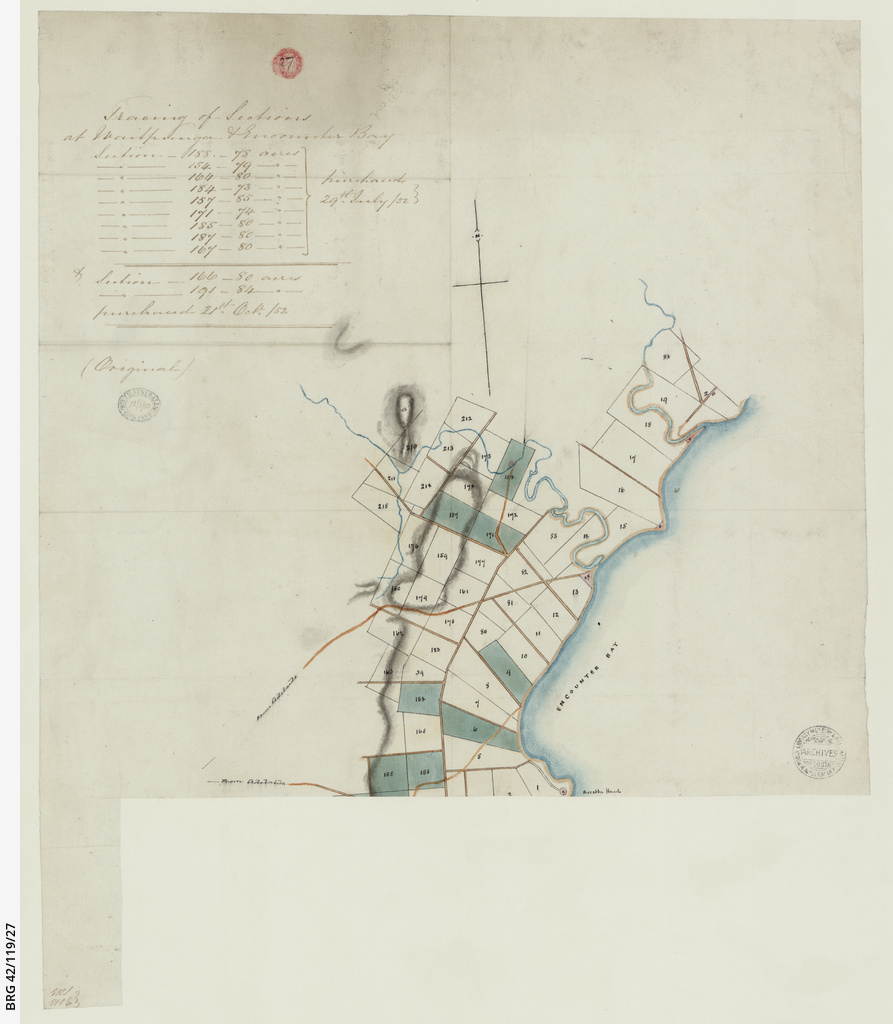 Tracing of sections at Waitpinga and Encounter Bay [cartographic material]