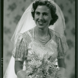 Betty Naismith on her wedding day