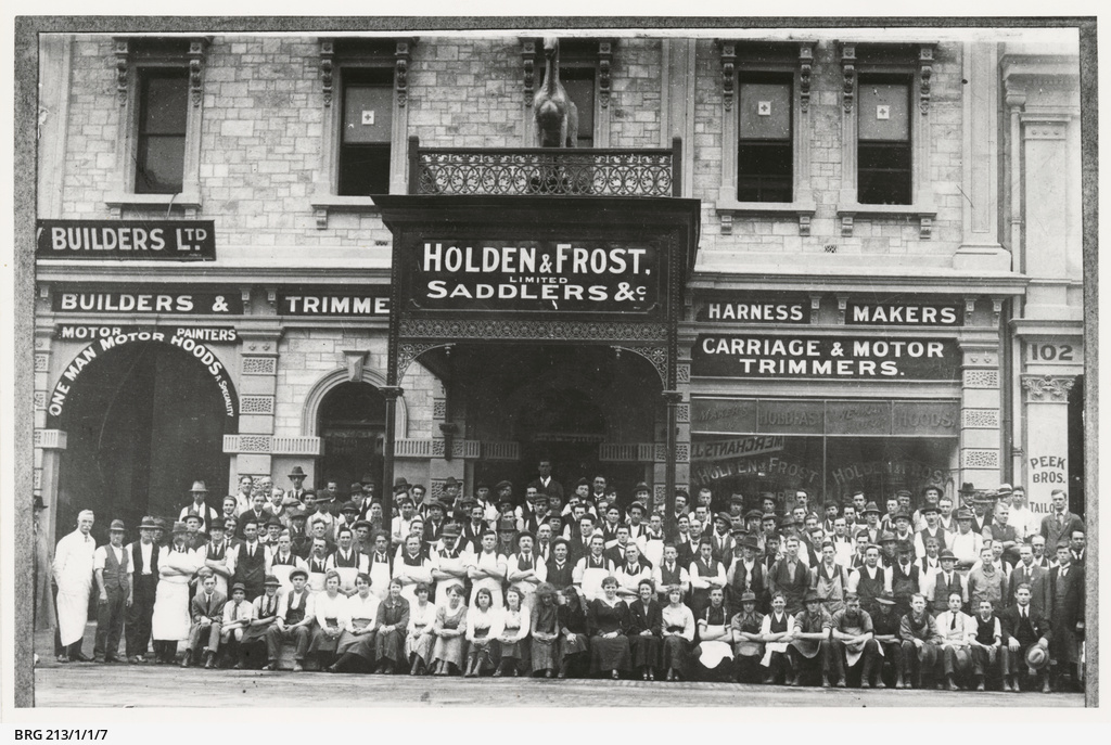 Holden & Frost, 100 Grenfell St, with staff.