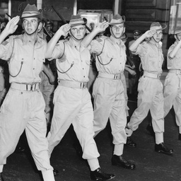 Army cadets marching through Adelaide