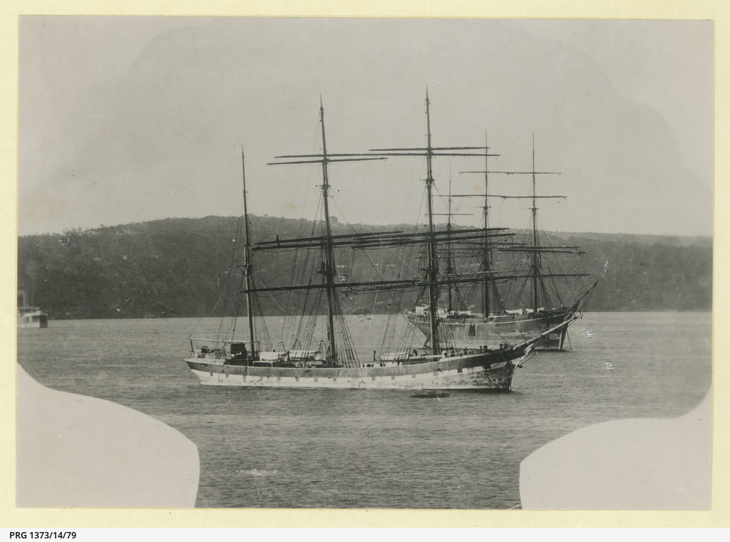 The 'Dunslaw' anchored in an unidentified harbour