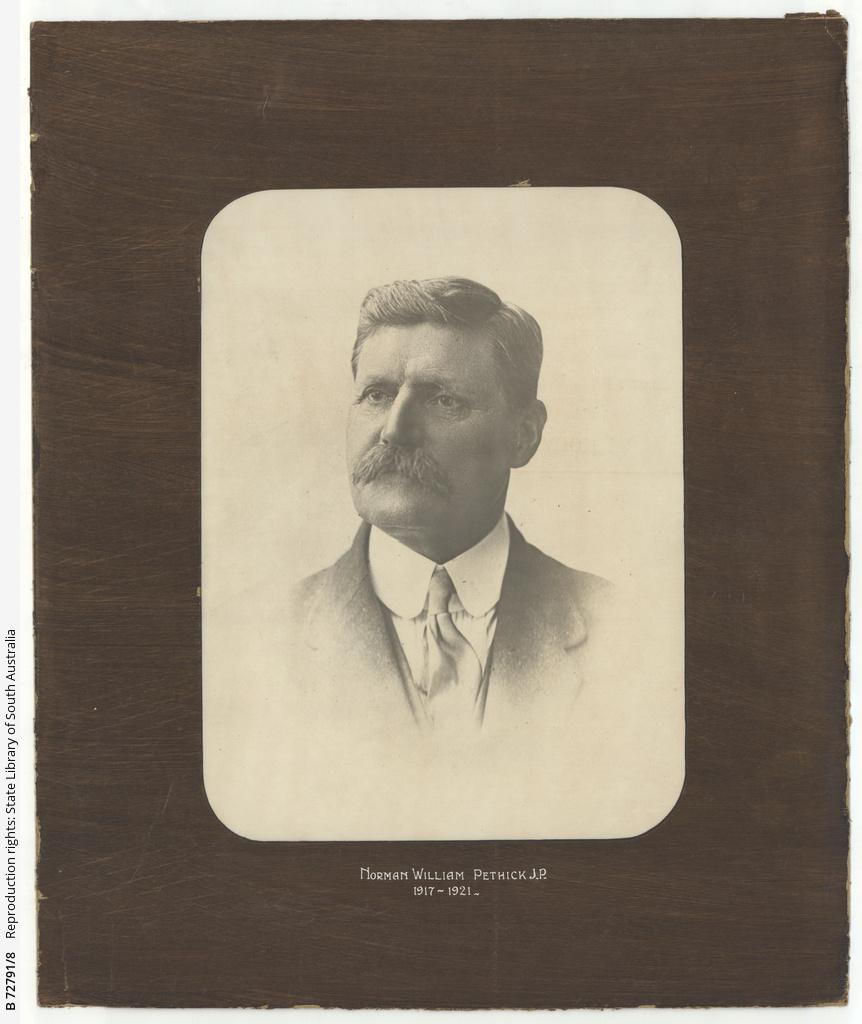 Portrait of Norman William Pethick