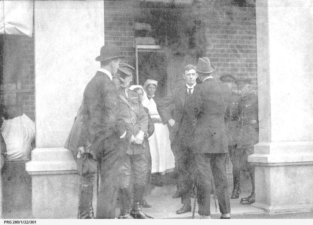 Sir Archibald Weigall visiting Keswick military hospital