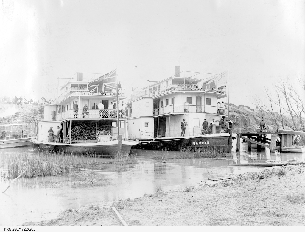 Paddle Steamers 'Ruby' and 'Marion' on the Murray River