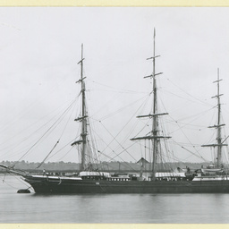The 'May Queen' moored at Gravesend, U.K.