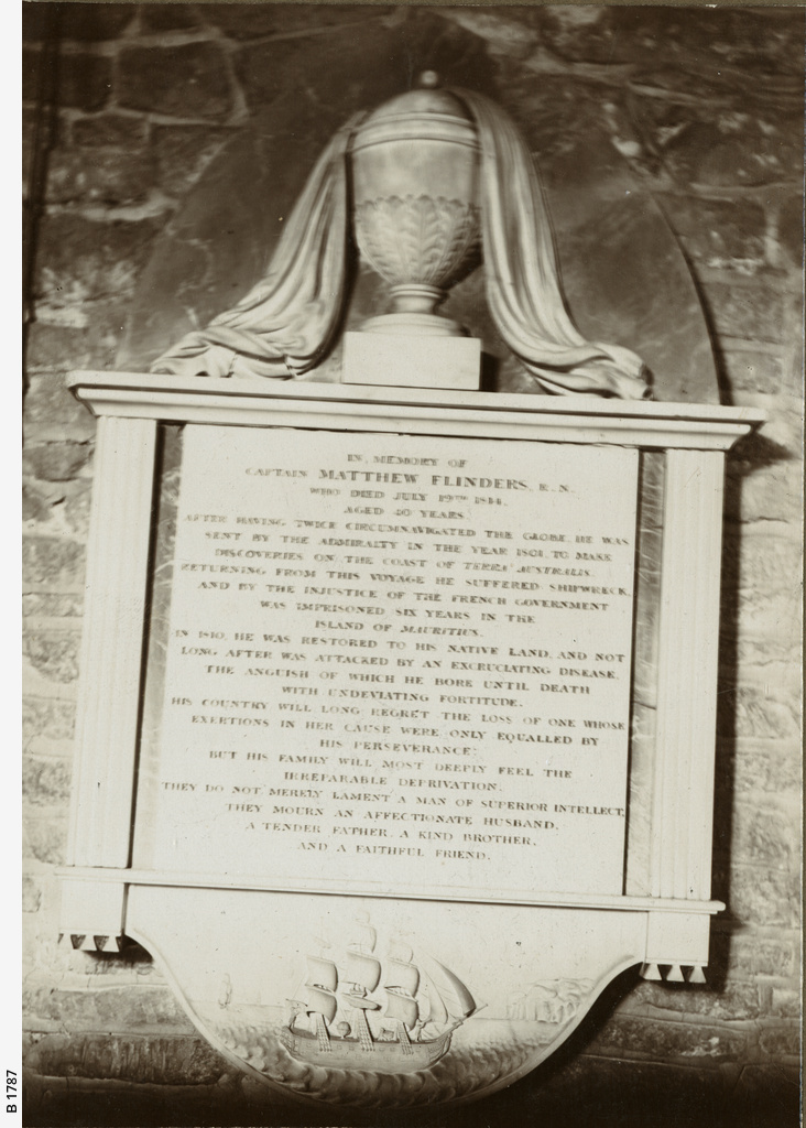 Memorial tablet in Donington Church