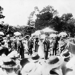 Sir Henry Galway attending a function