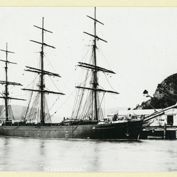 The 'Marlborough' docked at Port Chalmers, New Zealand