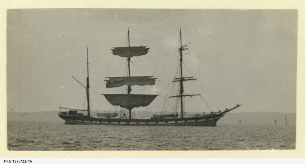 The 'Wynford' at anchor