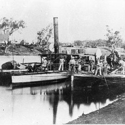 P.S. Bogan and barges