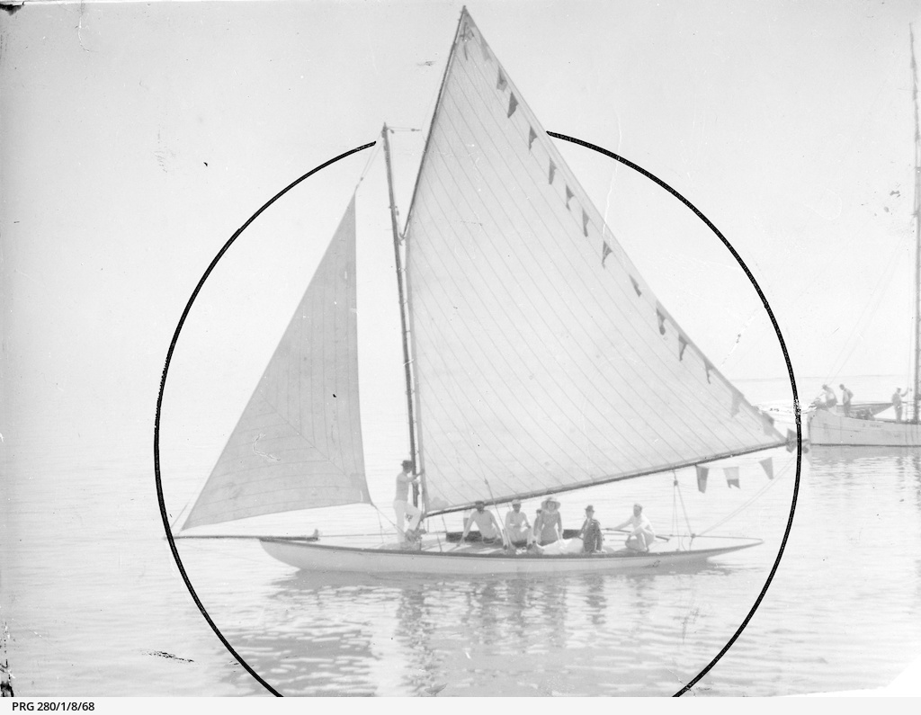 """A small yacht identified as the """"Fidena"""""""