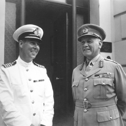 The Governor and Captain Harries