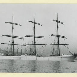The 'Juteopolis' anchored in an unidentified harbour