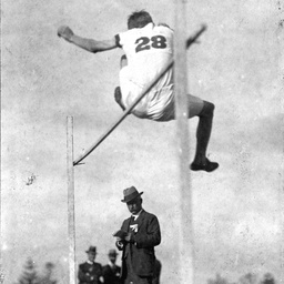 High jump event at a sports day