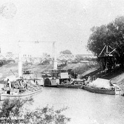 Shipping near the Wilcannia Bridge