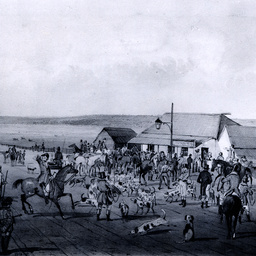 Meeting of the Adelaide Hounds at Dry Creek, Northern Road