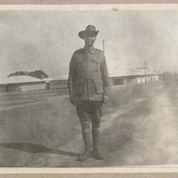 Norman Claxton in military uniform