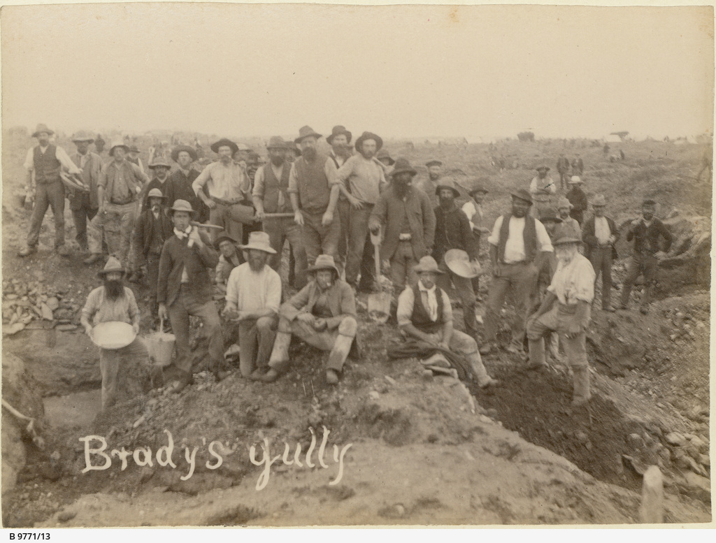 Miners at Brady's gully