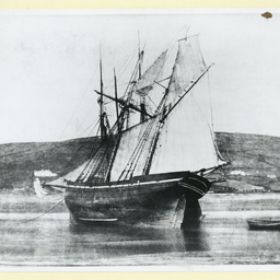 An unknown British wooden barque