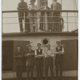 Captain and crew members of the 'Dimsdale'