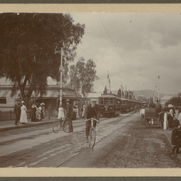 Opening of the electric tramway system, The Parade, Norwood