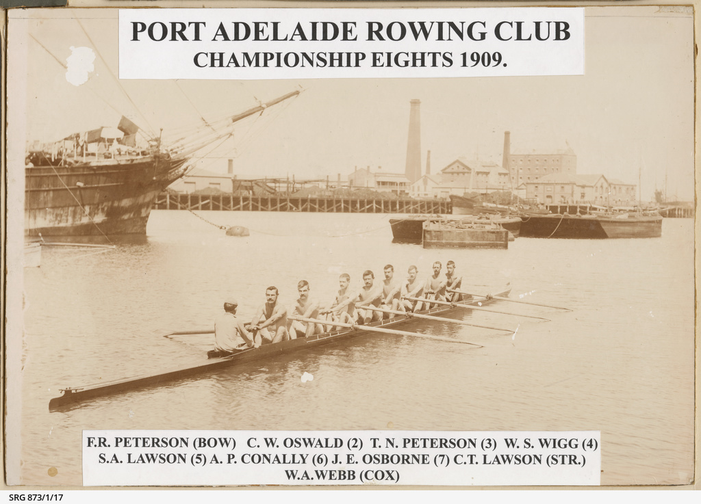 Port Adelaide Rowing Club Championship Eights 1909
