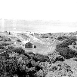 View from Nine Mile Point across The Coorong to the mainland